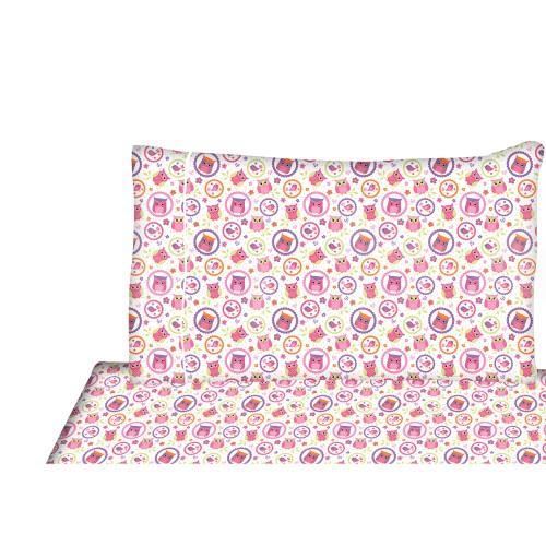ensemble de drap pour enfant chouette. Black Bedroom Furniture Sets. Home Design Ideas